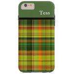 Caja verde personalizada del iPhone de la tela Funda De iPhone 6 Plus Tough