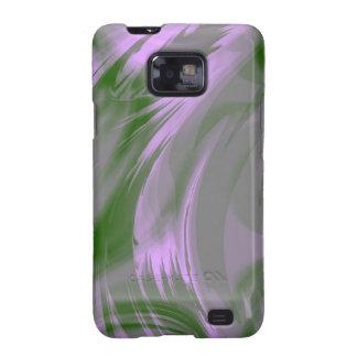 Caja verde púrpura de la galaxia S de Samsung del  Samsung Galaxy S2 Carcasa