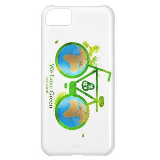Caja verde respetuosa del medio ambiente ambiental