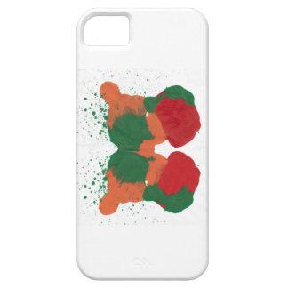 Caja verde roja anaranjada del iPhone de Rorscha iPhone 5 Protectores