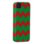 Caja verde roja de los galones iPhone 4 Case-Mate carcasa