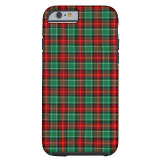 Caja verde roja del iPhone 6 de la tela escocesa Funda Resistente iPhone 6