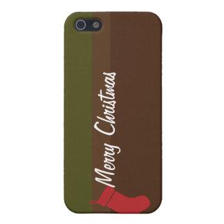 Caja verde roja llana del iPhone del texto de las iPhone 5 Coberturas