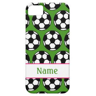 Caja verde rosada del iPhone 5 del balón de fútbol iPhone 5 Funda