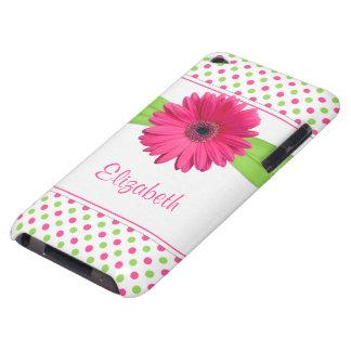 Caja verde rosada del tacto de iPod de la margarit iPod Touch Case-Mate Protectores