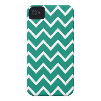 Caja verde ultramarina de Chevron Iphone 4S iPhone 4 Case-Mate Protectores