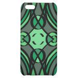 Caja verde vibrante de la mota del iPhone