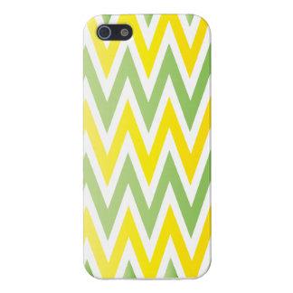 Caja verde y amarilla de Chevron Iphone iPhone 5 Funda