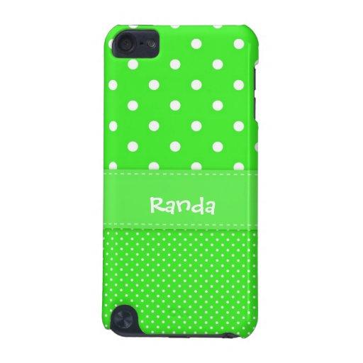 Caja verde y blanca de iPod 5g del lunar