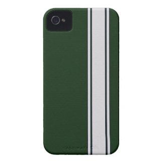Caja verde y blanca del iPhone 4 de la fibra de ca iPhone 4 Protectores