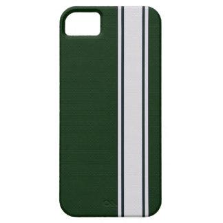 Caja verde y blanca del iPhone 5 de la raya de la iPhone 5 Case-Mate Coberturas