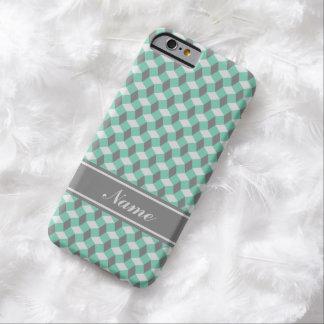 Caja verde y gris del lucite del modelo ondulado funda de iPhone 6 barely there