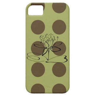 Caja verde y marrón del iPhone 5 de los lunares Funda Para iPhone 5 Barely There