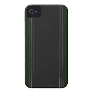 Caja verde y negra del iPhone 4 de la fibra de car iPhone 4 Carcasas