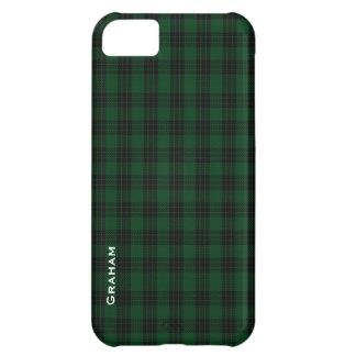 Caja verde y negra del iPhone 5 de la tela escoces Carcasa iPhone 5C