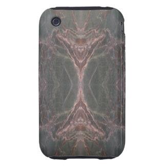Caja vertical de mármol verde del iPhone 3 del iPhone 3 Tough Funda