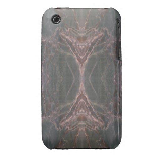 Caja vertical de mármol verde del iPhone 3 del mod Case-Mate iPhone 3 Funda