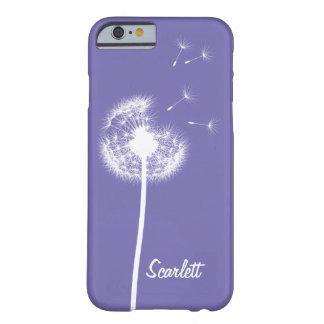 Caja violeta con monograma del iPhone 6/6s del Funda De iPhone 6 Barely There