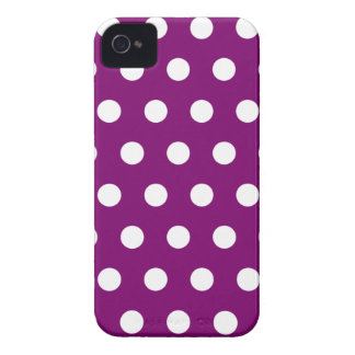 Caja violeta de Blackberry del lunar iPhone 4 Coberturas