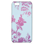 Caja violeta de la flora iPhone5