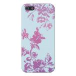 Caja violeta de la flora iPhone5 iPhone 5 Funda