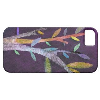 Caja violeta del árbol funda para iPhone 5 barely there