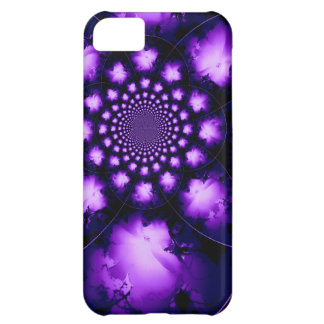 Caja violeta del iPhone 5c del caleidoscopio del h