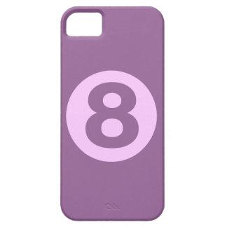 Caja violeta del número ocho iPhone 5 carcasa