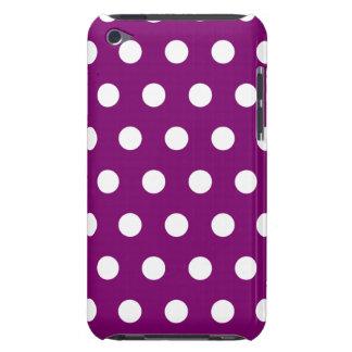 Caja violeta del tacto de iPod del lunar Barely There iPod Carcasa