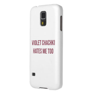 Caja violeta del teléfono de Chachki Funda Galaxy S5
