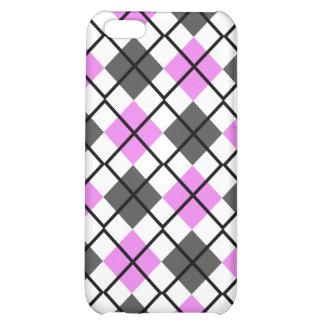 Caja violeta, gris, blanca y negra del iPhone 4 de