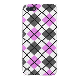 Caja violeta, gris, blanca y negra del iPhone 4 de iPhone 5 Carcasas