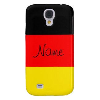 Caja viva del teléfono de HTC de la bandera aleman Funda Para Galaxy S4