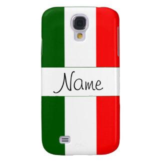 Caja viva del teléfono de HTC de la bandera italia Funda Para Galaxy S4