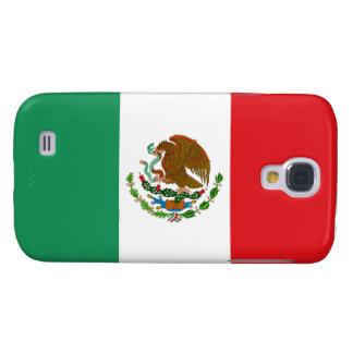 Caja viva del teléfono de HTC de la bandera mexica Funda Para Galaxy S4