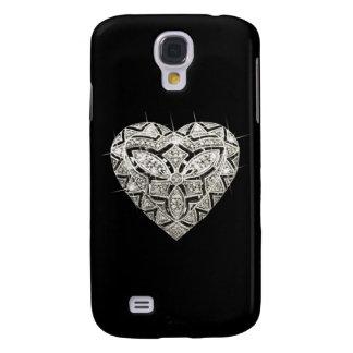Caja viva del teléfono de HTC del corazón elegante Funda Para Galaxy S4