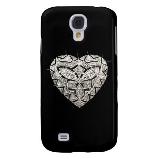 Caja viva del teléfono de HTC del corazón elegante Funda Para Samsung Galaxy S4