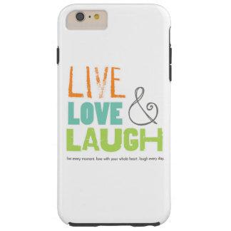 caja viva del teléfono de la risa del amor funda resistente iPhone 6 plus