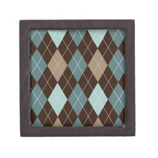 Caja w Brown/modelo azul de la baratija de Argyle Cajas De Joyas De Calidad