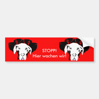 Caja White Great Dane Bumper Sticker