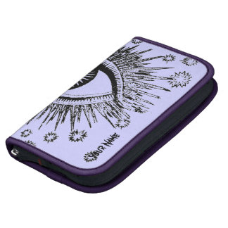 Caja Zippered folio púrpura místico del teléfono d Organizadores