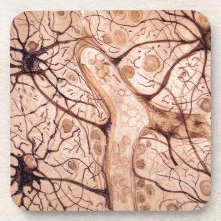 Cajal's Neurons 3 Drink Coaster