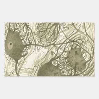 Cajal's neurons 6 rectangular sticker