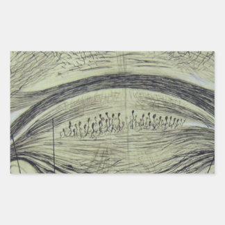 Cajal's spinal neurons - 5 rectangular sticker