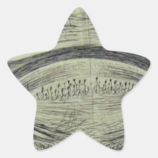 Cajal's spinal neurons - 5 star sticker