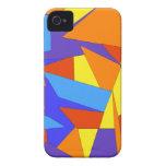 Cajas abstractas coloridas del iPhone 4/4S iPhone 4 Case-Mate Funda