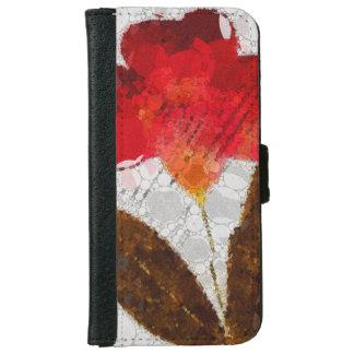 Cajas abstractas de la cartera de la flor iPhone6 Funda Cartera Para iPhone 6
