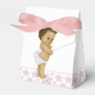 Cajas afroamericanas rosadas del favor de la ducha cajas para regalos
