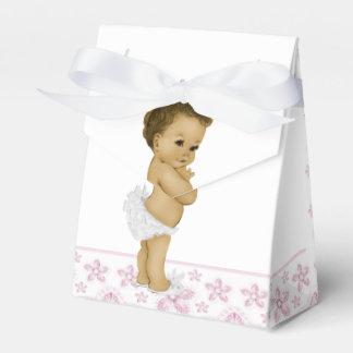 Cajas afroamericanas rosadas del favor de la ducha cajas para regalos de fiestas