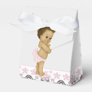 Cajas afroamericanas rosadas del favor de la ducha paquetes de regalo